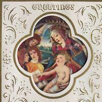 Vintage Art Deco Christmas Greeting Card Unused Madonna Child Botticelli Antique