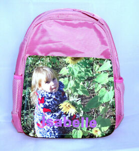 Girls Personalised Rucksack with Photo and Name