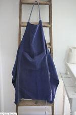 Vintage French APRON indigo BLUE bleu de travail WORK WEAR c1950