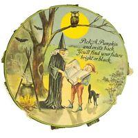 """Rare Original Antique Halloween """"Pick A Pumpkin"""" Vintage Game Artwork, USA Made"""