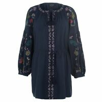 Eden and Rose Tunic Ladies Tunics Full Length Sleeve V Neck Cotton Elasticated