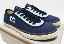 $450 NIB MARNI Men's Navy Sky-Blue Canvas Low Top Shoes Sneakers 11-USA 44-EU