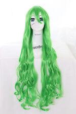 Y-20-27 grün green 100cm Cosplay Wig Perücke Perruque Curl Locken Anime Manga