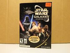 Star Wars Galaxies: Starter Kit (PC, 2005) New Factory Sealed