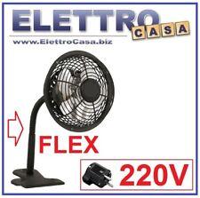 Ventilatore con Pinza a Morsetto 220V a corrente NO USB Moderno di Design NERO
