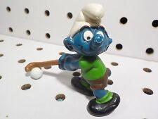 Field Hockey Smurf Figure ~ Smurfs ~ Schleich / Peyo 1980 (vintage)