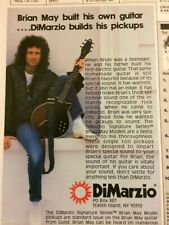 Brian May, Queen, DiMarzio Pickups, Vintage Promotional Ad