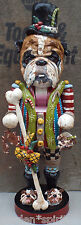 Folk Art  Nutcracker Dog Doll English Bulldog Ooak Folk Art Vintage Style