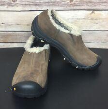 Keen Women's Bailey Slip-On Brown Nubuck Insulated Warm Waterproof Shoe Sz 6