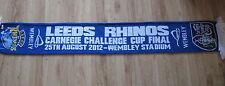 LEEDS RHINOS_Wembley stadium_Carnegie Challenge cup 2012 scarf  szalik Schal
