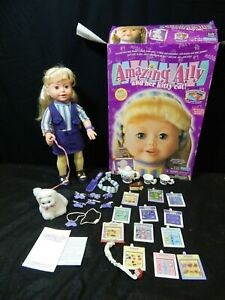 2001 PLAYMATES AMAZING ALLY & HER KITTY CAT INTERACTIVE TALKING DOLL 198105