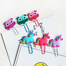 Unicorn Cute Bookmark Book Markers Paper Clip For Kids Gift Stationery Student