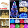 6 Pack 20 LED Battery Operated Micro Rice Wire Copper Fairy String Lights - Sy