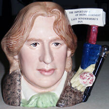 """OSCAR WILDE Royal Doulton CHARACTER Jug NEW NEVER SOLD D7146 7"""" tall LARGE"""