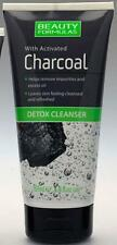 ** BEAUTY FORMULAS DETOX CLEANSER WITH ACTIVATED CHARCOAL NEW ** 150ml
