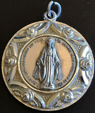 Vintage Catholic Miraculous Mary Embossed Religious Medal Germany