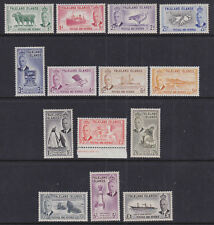 Falkland Islands 1952 Mint MNH/MLH Full Set Definitives King George VI 14 values
