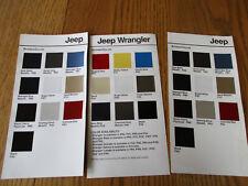 1970s-1980s Jeep Sales Brochures Lot of 16 pieces