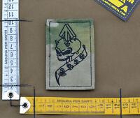 "Ricamata / Embroidered Patch Italian ""SOSG Alpini"" Black with VELCRO® brand hook"