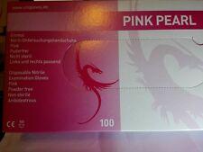 NITRIL PINK PEARL HANDSCHUHE  PINK 100xSt.ANGERAUHT TATTOO  L,M,S