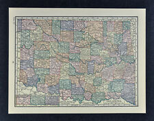 c1905 Hammond Map - Oklahoma Tulsa Guthrie McAlester Tahlequah Muskogee El Reno