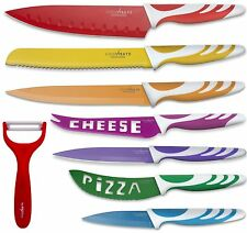 Ceramic Knife Set Kitchen Knives Cutlery 8 Piece Peeler Color Chef Antibacterial