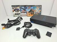 Playstation 2 PS2 FAT Console Bundle SCPH-30001 Controller Memory Card 4 Games