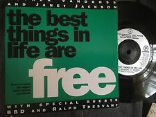 """LUTHER VANDROSS & JANET JACKSON the best things in life are free 7"""" Vinyl record"""