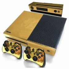Gold Glossy Skin Sticker For Xbox ONE Console Controller + Kinect Decal Vinyl X2