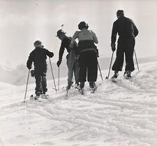 ALPES D'HUEZ c. 1938 - Skieurs Isère - NV 477