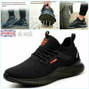 Men Lightweight Safety Steel Toe Cap Work Ankle Hiking Boots Trainers Shoes J1