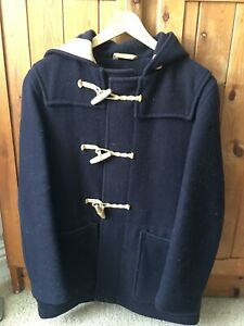 Gloverall mens hooded duffle coat RRP £450 - Navy - Small