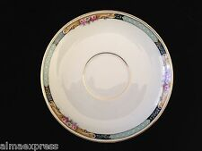 Gimbel Brothers KPM Bavaria Germany China 27044-4576 Roses & Gold TEA CUP SAUCER