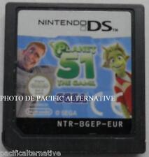 jeu seul PLANET 51 Le Jeu Video sur nintendo DS game en francais enfant loose