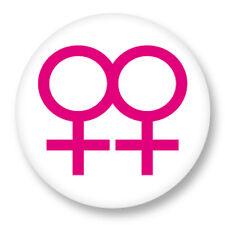 "Pin Button Badge Ø25mm 1"" Sexe Sexual Gay Homosexuel Lesbienne Lesbian Femme"