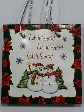 Snow Globe Ornament Gift Bag - Let it Snow! Let it Snow! Let it Snow! - Ganz