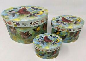 VTG 3 Lot Bob's Boxes Summer's Song Cardinal Songbirds Birds Oval Nesting SS21