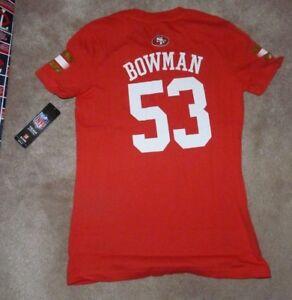 NEW NFL NaVorro Bowman San Francisco 49ers T Shirt L Large 14 Girls Youth NWT
