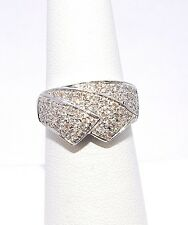 2903-14K WHITE GOLD DIAMOND  RING- 67 DIAMS 0.60TCW 5.00 GRAMS SIZE 6.25