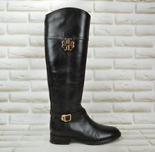 TORY BURCH Womens Brown Leather Long Knee High Boots Tall Shoes Size 3 UK 36 EU