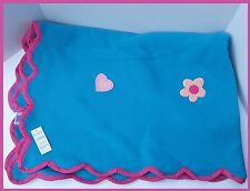 New Girls Blanket Flower Heart Fleece The Childrens Place Bed Room Twin Blue Pin