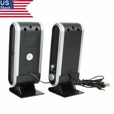Us 2X Portable Usb Speaker 6W 3.5mm Usb 2.0 Laptop Computer Speakers w/ Ear Jack
