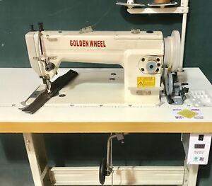 GOLDEN WHEEL Walking Foot Leather Sewing Machine Large Hook Silent Motor Speed