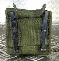 IDF MilitaryTactical Ammo / Ammunition Pouch w Alice Clips Web / Codura. Olive 1