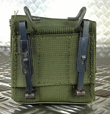 IDF Military Tactical Ammo / Ammunition Pouch w Alice Clips Web / Codura. Olive2