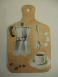 Little country style kitchen coffee plaque, coaster
