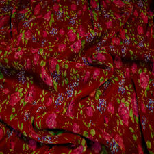 Balenciaga pleated (plisse) fabric Floral print Made in Italy Price for 2.40 m.