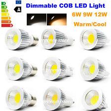 Dimmable GU10 E27 MR16 6W 9W 12W 15W LED COB Ampoule Downlight Spot Lampe Bulb