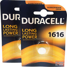 2 x Duracell CR1616 3v Lithium Batteries CR 1616 DL1616
