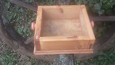 Caja De Pino Antiguo Rústico Trug/plantador/Asas De Porcelana/De Frutas/verduras Ect